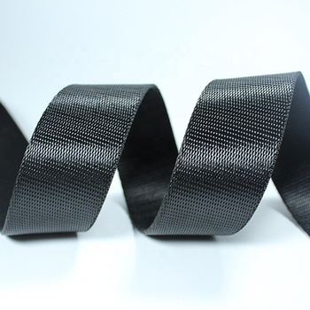 Manufacture Wholesale Woven Custom Black PP Tape 1 inch 1.5 Inch Nylon Webbing