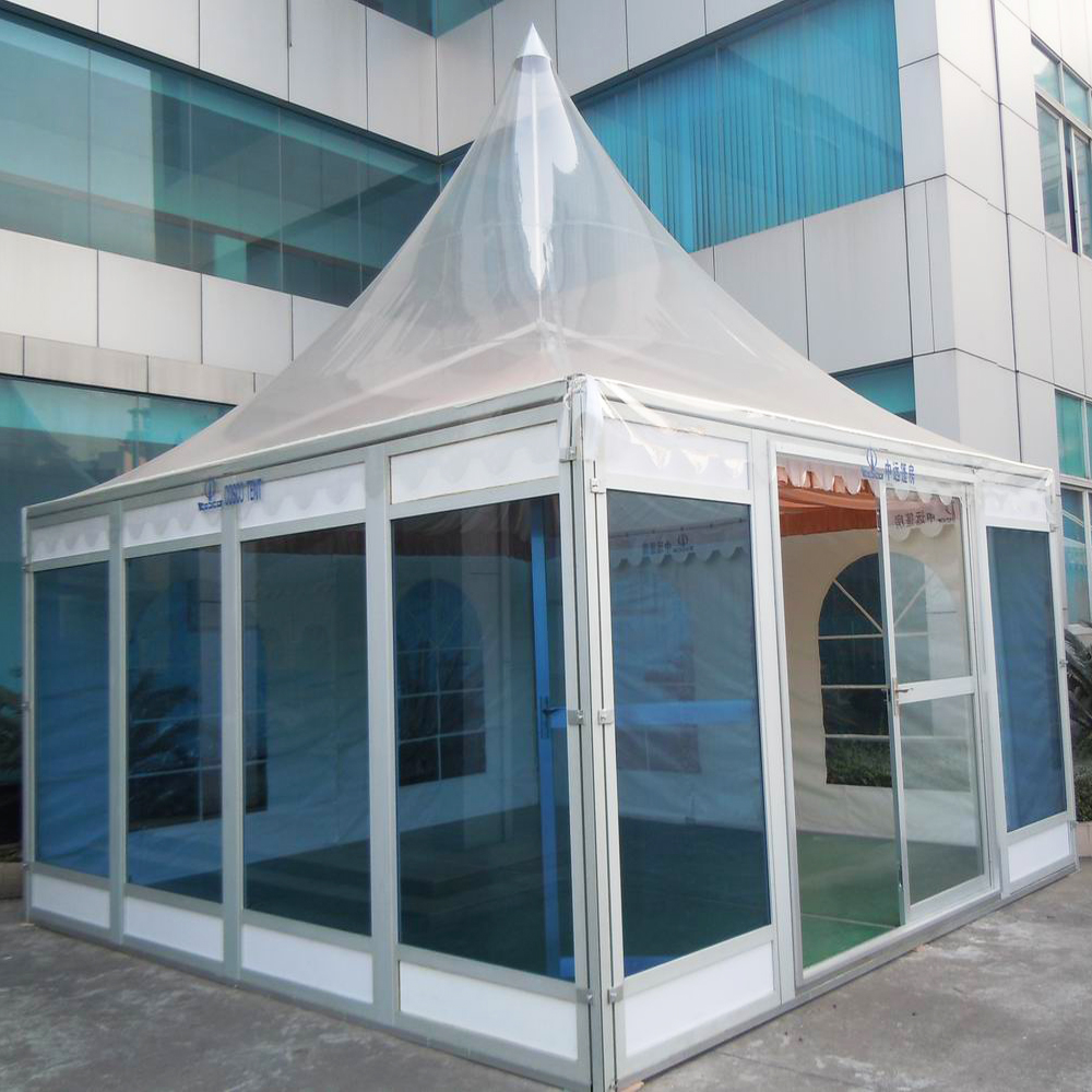 Outdoor Aluminum Frame Clear Roof Transparent Pagoda Gazebo Tent