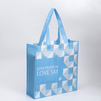 eco recycle biodegradable reusable laminated non-woven printed foldable gift cloth pp polypropylene non woven shopping tote bag