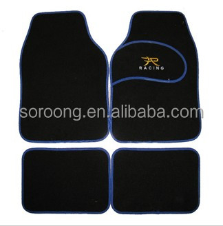 universal automotive floor mats colorful decorative non skid carpet car mats