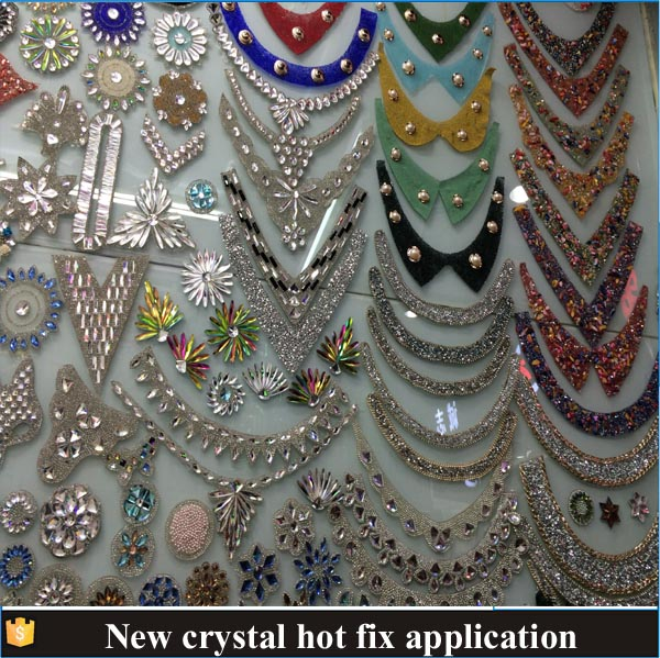 Hot new products hot fix rhinestones design/hot fix motif for clothes