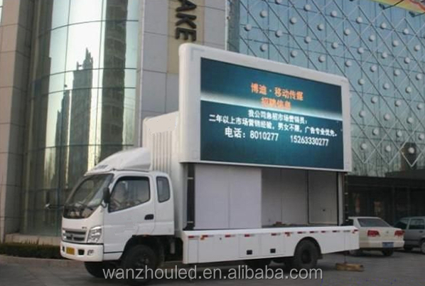 outdoor digital billboard mobile truck mobile advertising led display &screen for sale