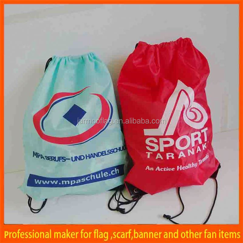 cheap recycling printed small gym bag