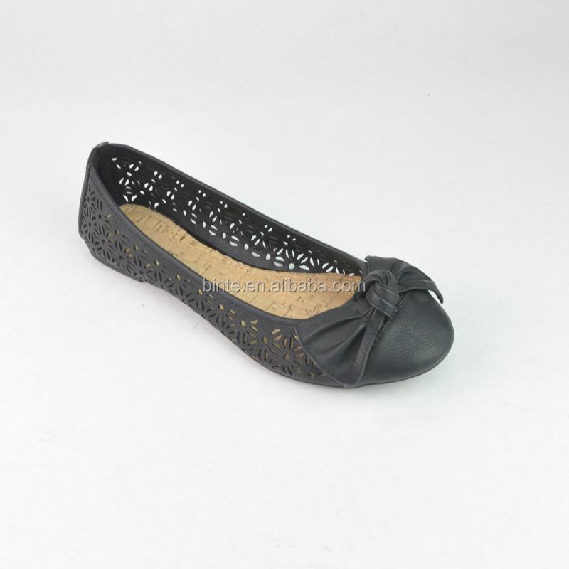 Ladies New Design Pu Leatehr Laser Flat Shoes,2016 Latest ...
