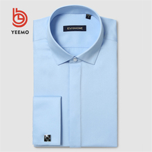 Yeemo <span class=keywords><strong>di</strong></span> Alta Qualità Slim Fit Bianco Vestito <span class=keywords><strong>di</strong></span> Affari Degli Uomini Camicia Formale 100% <span class=keywords><strong>Cotone</strong></span>