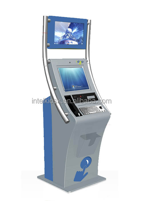 Great design self service hotel check in kiosk with card reader and barcode scanner