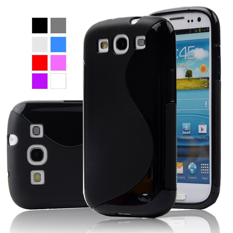 ecd48591c29 Antideslizante silicona S-LINE Delgado caso De Teléfono suave cubierta  trasera para Samsung Galaxy S3