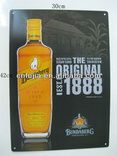 Bundaberg promotion/advertisement tin sign,metal plate