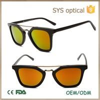 Latest UV400 protective fashion design solar sunglasses with dark lenses