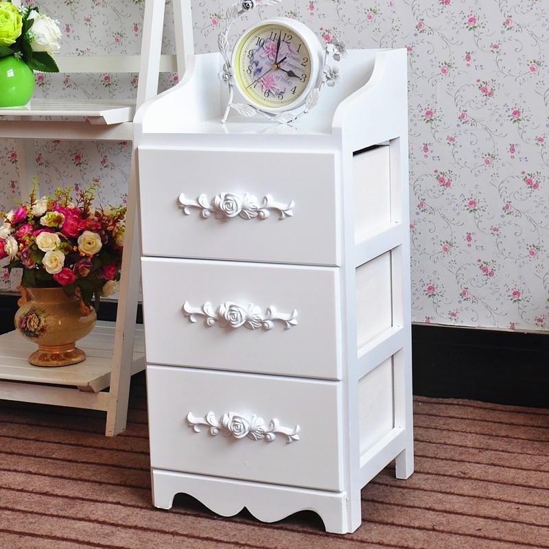 Muebles De Dormitorio Blanco Pintado De Madera Mesas Con Cajones ...