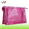 PVC mesh style simple cosmetic bag with zippers