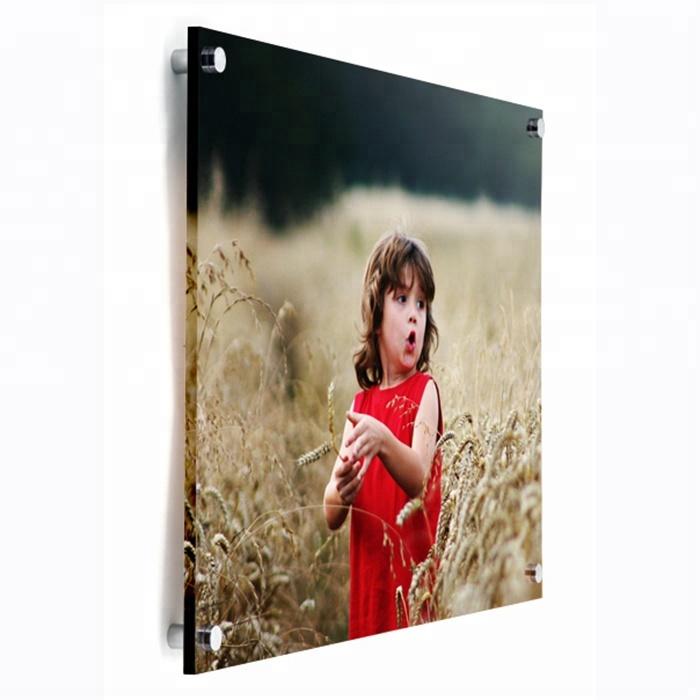 Cartel de montaje en pared Soporte de signo de fotos en 5MM Acrílico Perspex Con Fijaciones
