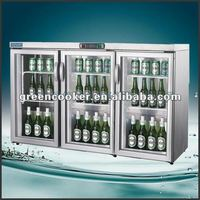 stainless steel cooler display counter showcase