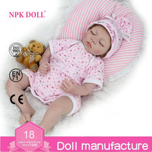Commercio all'ingrosso NPKDOLL 20 ''Reborn Baby Dolls Vinile silicone reale sleeping girl doll realistica baby per i bambini