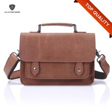 Men Simple Style Business Office Genuine Leather Sling Bag