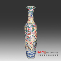 Ancient style excellent quality famille rose interior decoration vase for best sale in China