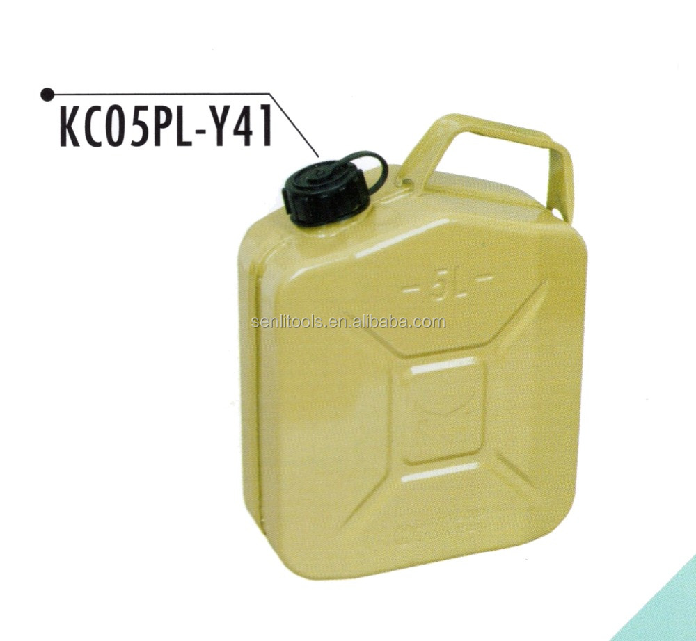5L 10L 20L PE Coated Portable Gasoline Fuel Can Emergency Backup Oil Water Petrol Diesel Storage Can Army Green Steel Gas Tank