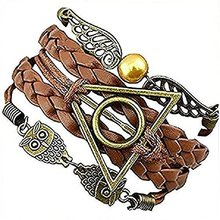 SPWE-1762 Inception Pro Infinite Multilayer Lederen Armbanden Harry Porter <span class=keywords><strong>Vredesduif</strong></span> en Vintage Angel Wings Armband