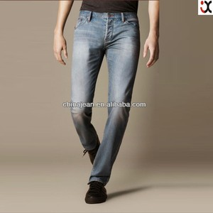 2017 fashion slim fit new jeans men guangzhou manufacturerJX8105