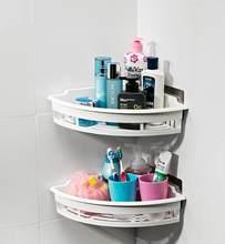 Крепкая присоска полка-корзинка для ванной комнаты стиральная комната/кухонная угловая корзина настенная стойка для хранения держатель ко...(Китай)