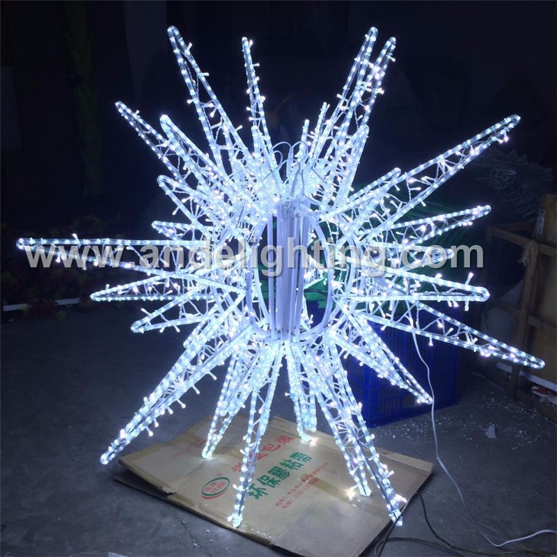 2017 new led christmas outdoor street decoration 3d star for Christmas star outdoor lights decorations