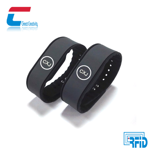 Access control NFC swimming adjustable silicone rfid wristband Mifare Classic 1k Chip Band