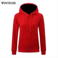 Wintress Wholesale women gym hoodie oversized plain pullover hoodies custom sweatshirt femme,blank hoodie sweater for women