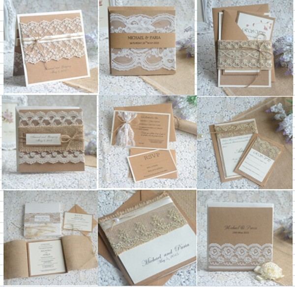 Customized cheap but exquisite design muslim wedding invitation card