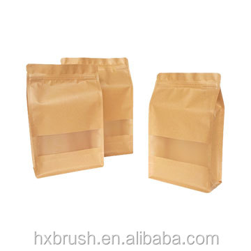 Fashion Design Flat Bottom Resealable Kraft Paper Valve Coffee Bag Custom colorful
