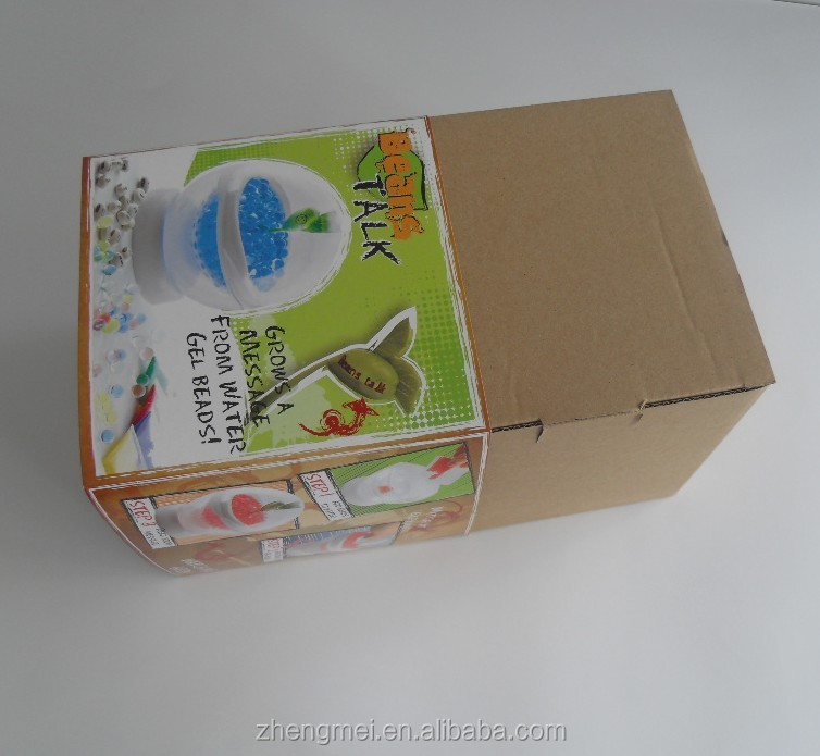 Custom made corrugate paper package box with sleeve