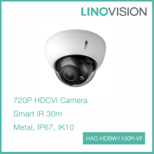 1Megapixel 720P Vandal & Water proof 30m IR HDCVI Dome Camera