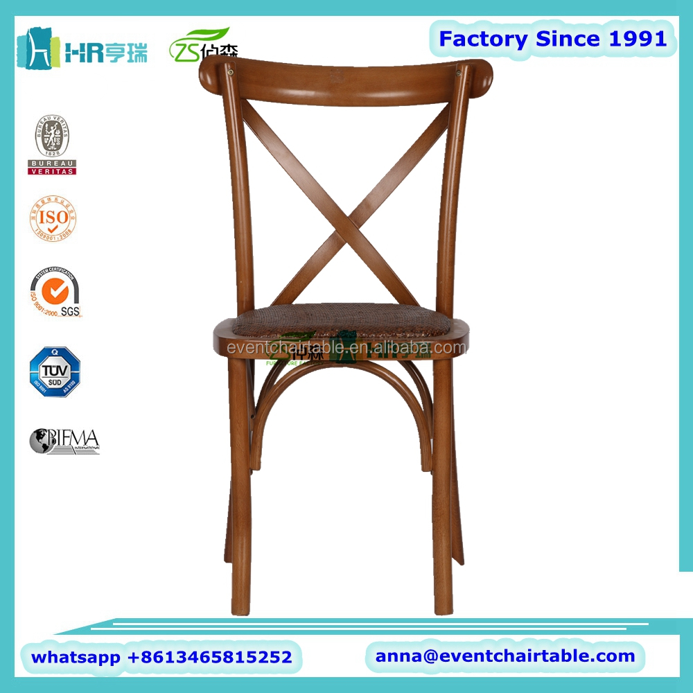 5ft Folding Table , Brown Cafe Dining Cross Back Chair