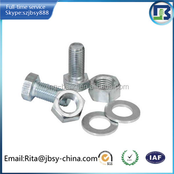 high quality m12 stainless steel bolt nut washer manufacture