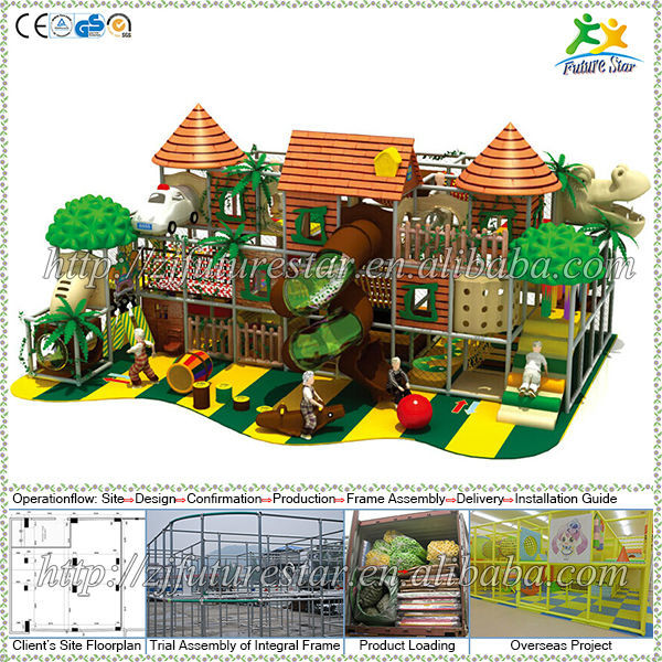 Jungle theme free design CE & GS eco-friendly LLDPE kids indoor soft play area