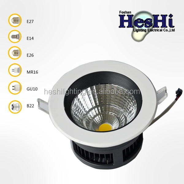 2014 hot sale high quality ip44 high power recessed cob led downlight 30w 230v price