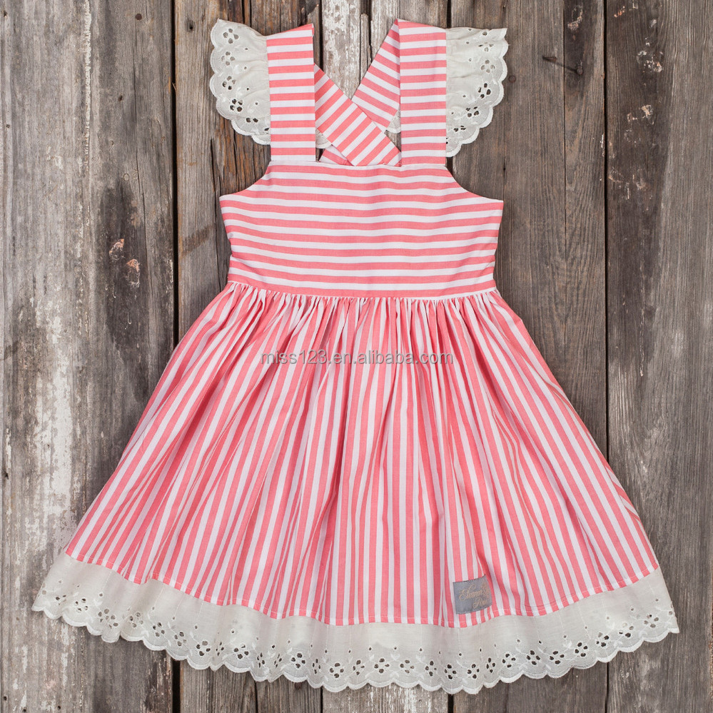 Fashion Design Small Girls Dress Popular Baby Girl Stripes Print ...