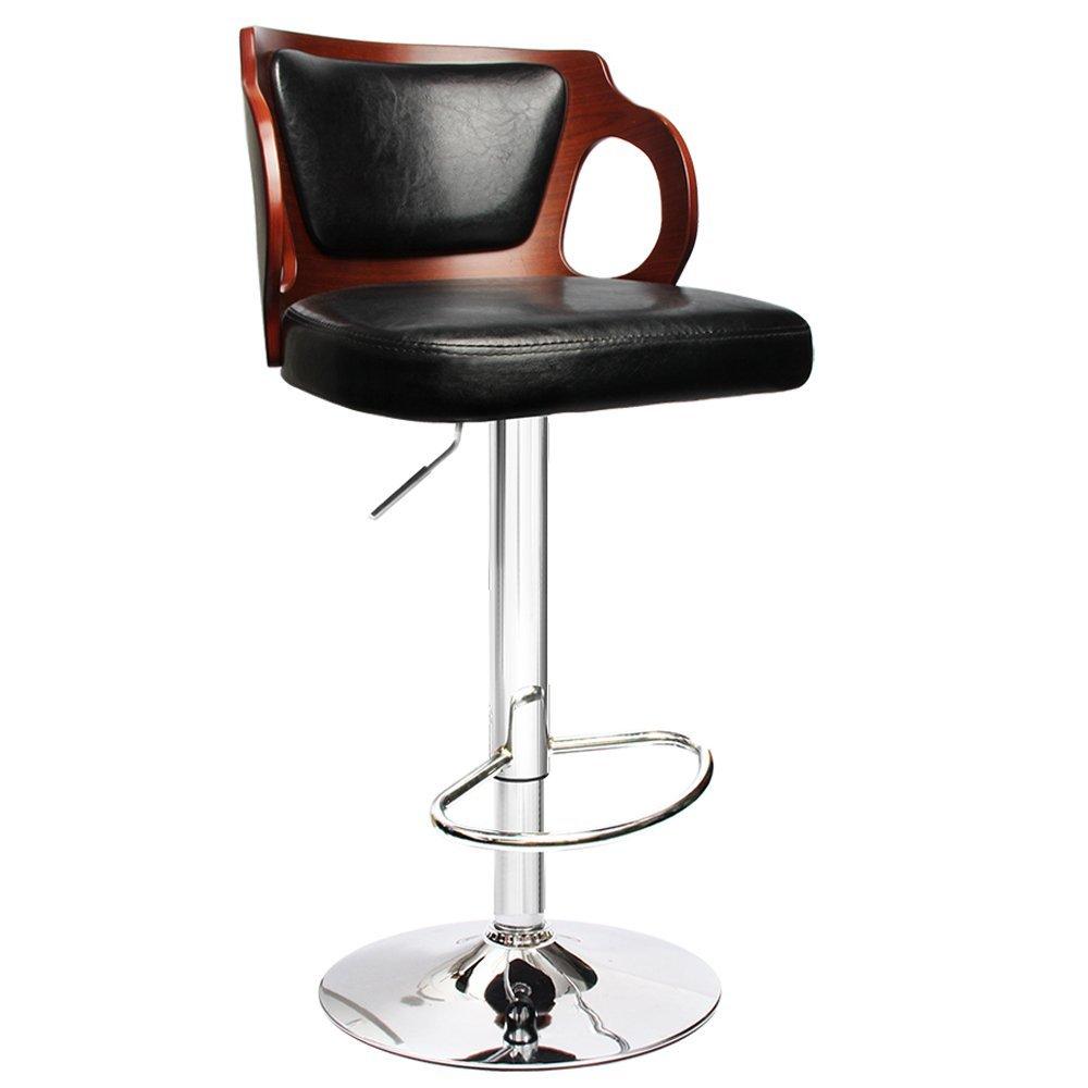 bar stools metal and wood. Vintage Bar Stool Metal Frame Wood Top Adjustable Height Swivel Stools And I