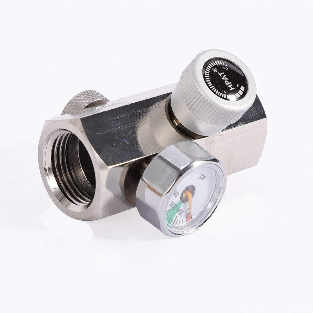 KANING Cylinder Refill Adapter Connector, 3000 PSI Homebrew CO2 Cylinder Refill Adapter Connector Gas Regulator DIN 477 / W21.8 / BS 34