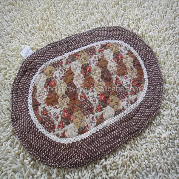 Branded export durable Double strip cotton floor mat