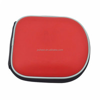 Eva case factory custom hard shockproof fashion red color eva CD Case eva DVD bag