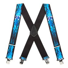 FREE SAMPLE Factory Price Wholesale Fashion men Cotton Belt Dress Suspender (clips) in blue supsender belt