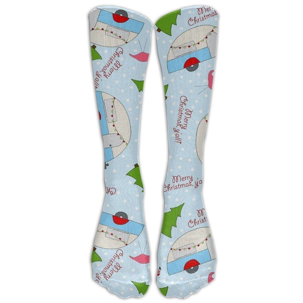 3203a2e280 Christmas Happy Camper Holiday Upgraded Knee High Graduated Compression  Socks For Women And Men - Best