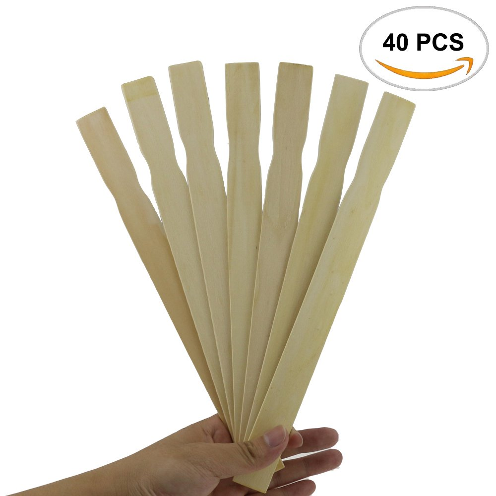 40PCS Fyess Paint Stir Sticks 12 inch Paddles, Stir Paints, Wax, Mix Epoxy, Resin, Kids Craft Or Hobby Projects, Library Or Garden Marker.