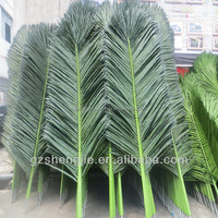 SJH14100910 make palm leaf plastic leafs for decorations artificial palm leaves
