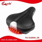 CE ROHS certificate Eco-Friendly Saddle Steel Rail Soft Cushion City Bike Bicycle Cycling Seat with LED Light