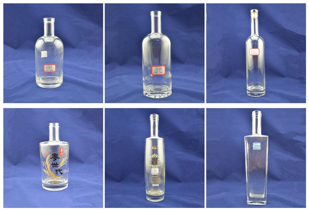 High White 500ml Alcohol Spirits Empty 700ml High Quality Clear ...