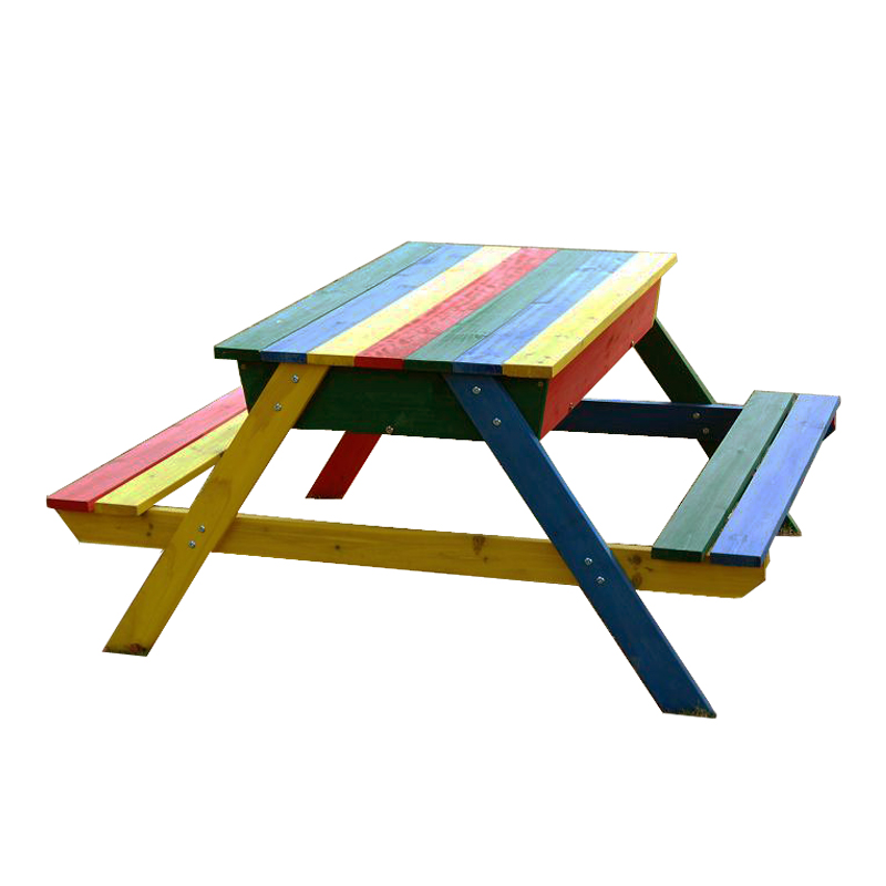 Terrific Colorful Wooden Picnic Table With Sandpit Buy Kids Wood Picnic Table Sandpit Product On Alibaba Com Pabps2019 Chair Design Images Pabps2019Com