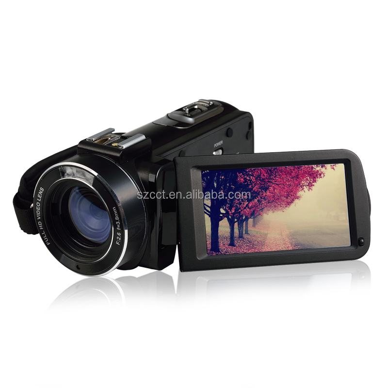 "Professional HD 1080P 5MP CMOS WIFI sensor digital video <strong>camera</strong> with 16x digital zoom & 3 ""Touch LCD"