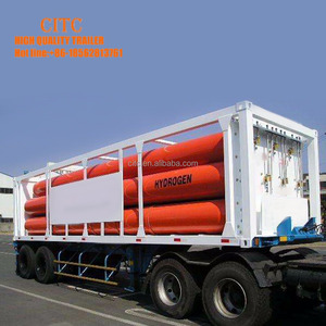 8 10 12 tubes compressed natural gas transport cng tube skid pipe trailer
