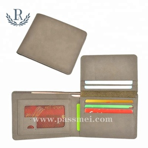 Hot selling handmade casual genuine leather gary slim wallet